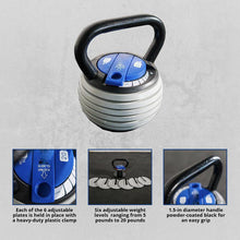 Load image into Gallery viewer, 5-20lb Adjustable Kettlebell Weight