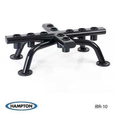 Hampton Fitness 10-Piece Olympic Barbell Rack