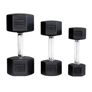 American Barbell Rubber Dumbbells
