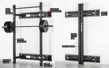 "Load image into Gallery viewer, Rogue RML-3W Fold Back Wall Mount Rack 21.5"" Depth"