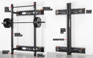 "Rogue RML-3W Fold Back Wall Mount Rack 21.5"" Depth"