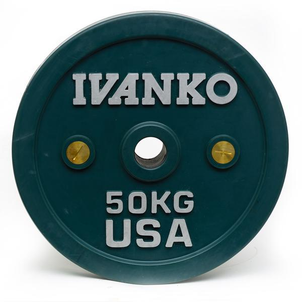 Ivanko Olympic Calibrated 50kg Bumper Plate Pair