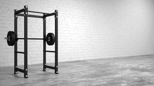"American Barbell 36"" Single Rack w/ Pipe Spotters"