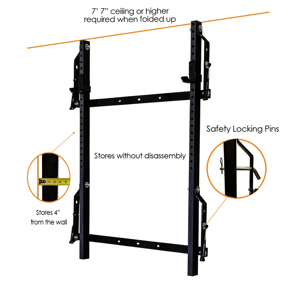 PRx Profile® Folding Squat Rack
