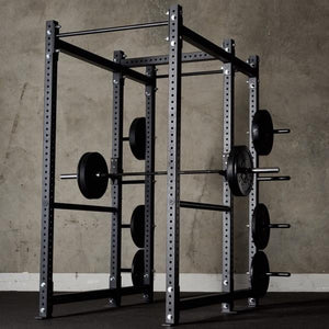 American Barbell Power Rack w/ Storage Extension and Pipe Rod Spotters