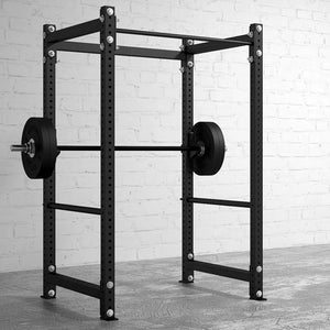 "American Barbell 48"" Single Rack w/ Pipe Spotters"