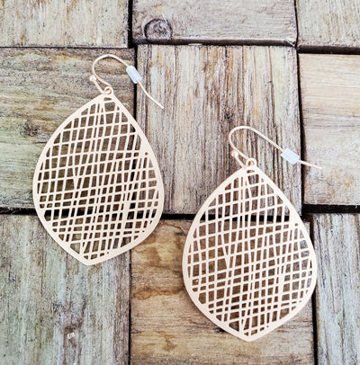 Matte Gold Drop Earring