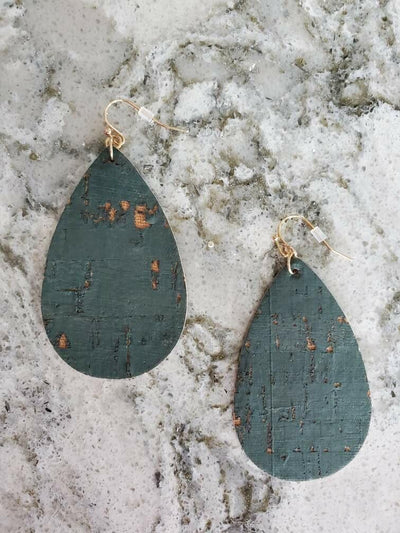 Teal Drop Earring