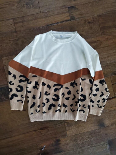 Cheetah/Cream Sweater