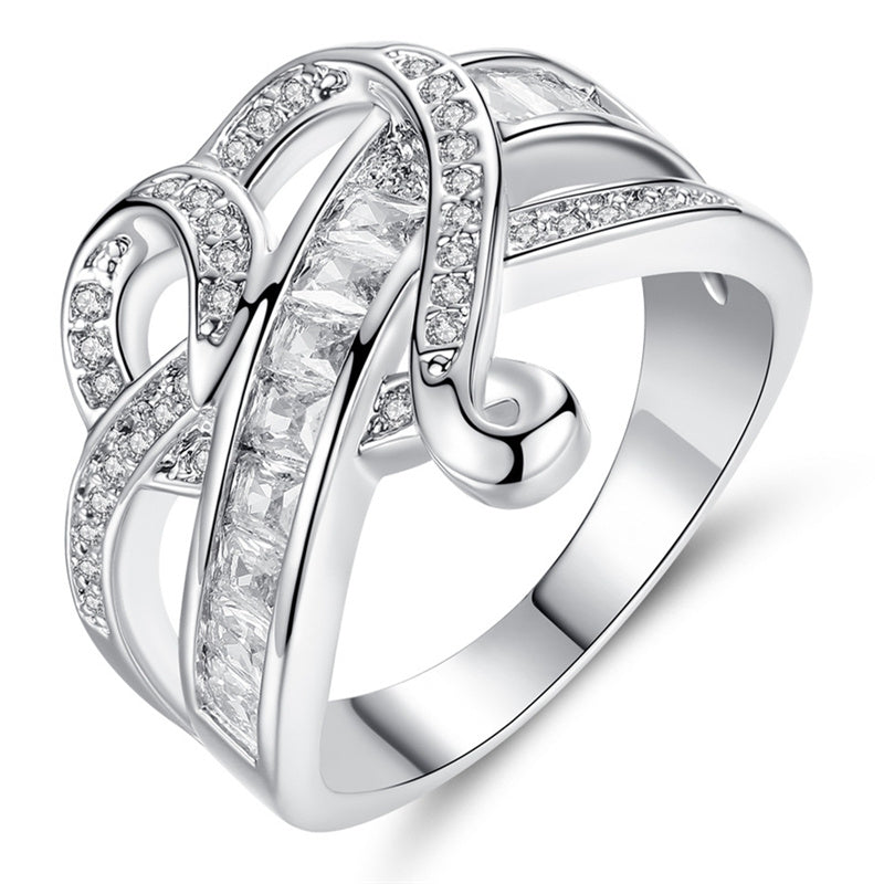 Fashionable Diamond Crystal Heart Ring - Find A Gift Fast