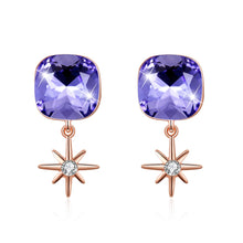Load image into Gallery viewer, S925 M Bracket Earrings Purple - Find A Gift Fast