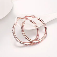 Load image into Gallery viewer, Environmentally Friendly Rose Gold Round Czech Diamond Earrings - Find A Gift Fast