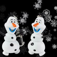 Load image into Gallery viewer, Xuebao LED Luminous Vocal Pendant Creative Keychain Snowman Christmas Gift - Find A Gift Fast