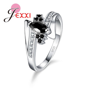 New Arrival Cute Shiny Cubic Zirconia Rings For Women Big Discount 925 Sterling Silver Party Jewelry Gift Free Shipping - Find A Gift Fast