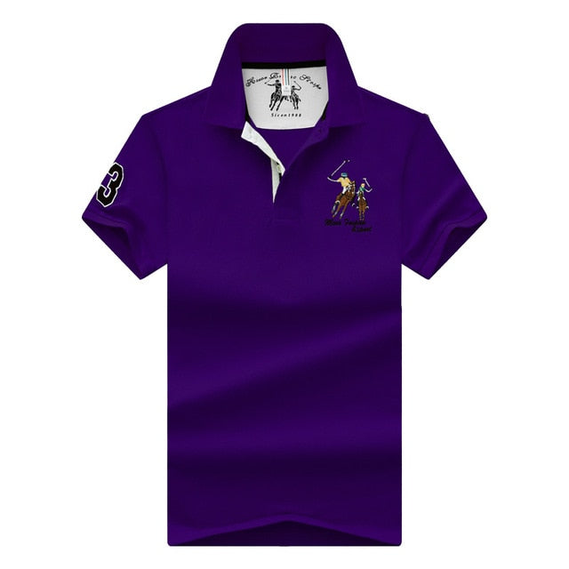new Tops&Tees Men's Polo shirts Business men brands Polo Shirts 3D embroidery mens Breathable gym polo shirt - Find A Gift Fast