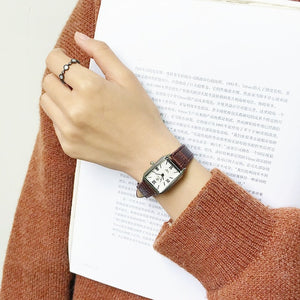 Fashion women vintage leather watches rectangle - Find A Gift Fast
