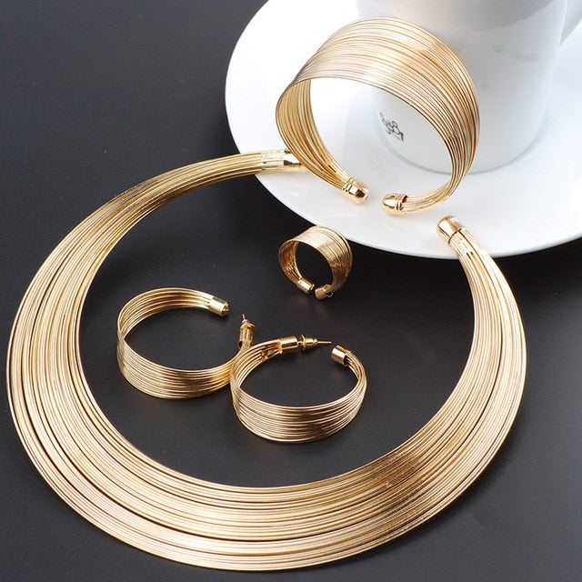 Fashion Dubai Gold Jewelry Sets Exaggerated - Find A Gift Fast