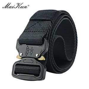 Maikun Military Equipment Combat Tactical Belts for Men US Army Training Nylon Metal Buckle Waist Belt Outdoor Hunting Waistband - Find A Gift Fast