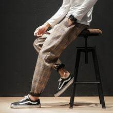 Load image into Gallery viewer, Japanese Streerwear Men Plaid Pants - Find A Gift Fast