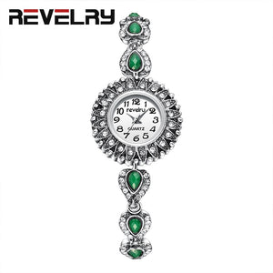 REVELRY Wrist Watch Women New Fashion Minimalist Women's Rhinestone Bracelet Clock Watches Montre Femme Quartz Watch Womens - Find A Gift Fast