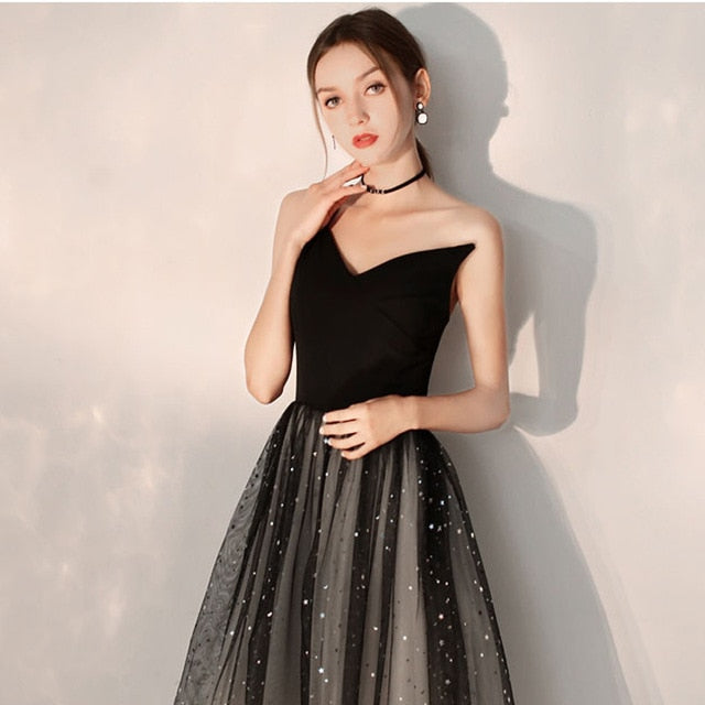 Cocktail Dress Black One Shoulder Pleat - Find A Gift Fast