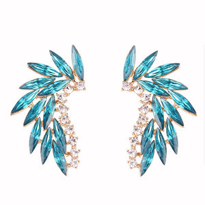 LUBOV Shining Rhinestone Wings Stud Earrings - Find A Gift Fast