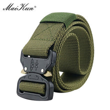 Load image into Gallery viewer, Maikun Military Equipment Combat Tactical Belts for Men US Army Training Nylon Metal Buckle Waist Belt Outdoor Hunting Waistband - Find A Gift Fast