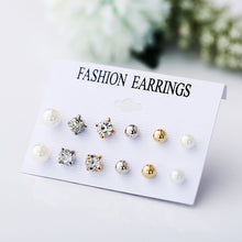 Load image into Gallery viewer, Minimalist Mixed Small Earrings Set Simple Geometric Stud Earrings for Women Girls Tiny Ear Studs Pendientes Kleine Oorbellen - Find A Gift Fast
