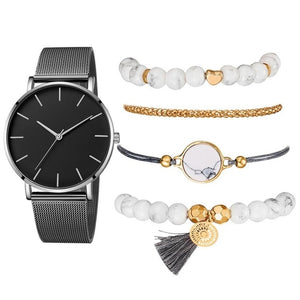 Women Watch 5 set Bracelet Japan - Find A Gift Fast