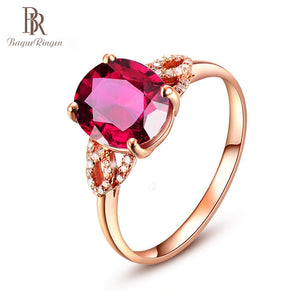 Bague Ringen 925 Silver Created Ruby - Find A Gift Fast