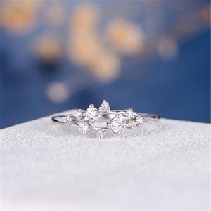 Leaf Crystal Engagement Rings Women's Eternity - Find A Gift Fast