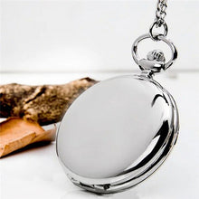 Load image into Gallery viewer, Retro Classical 4.5cm Size Silver Polish Quartz Men Pocket Watch Pendant Chain Smooth Pocket Watches Relogio De Bolso Gift - Find A Gift Fast