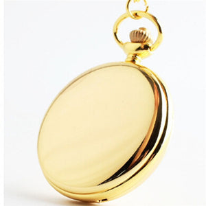 Retro Classical 4.5cm Size Silver Polish Quartz Men Pocket Watch Pendant Chain Smooth Pocket Watches Relogio De Bolso Gift - Find A Gift Fast