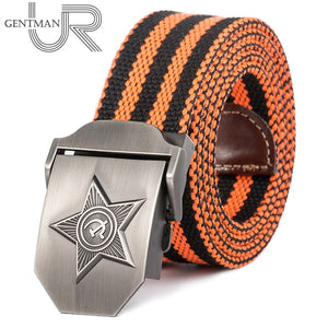 New Men & Women High Quality 3D Five Rays Star Military Belt Old CCCP Army Belt Patriotic Retired Soldiers Canvas Jeans Belt - Find A Gift Fast