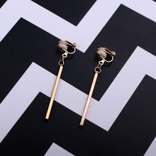 Load image into Gallery viewer, Simple fashion gold color Silver plated geometric big round Clip earrings for women fashion big hollow Ear clip jewelry - Find A Gift Fast