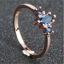 Load image into Gallery viewer, Leaf Crystal Engagement Rings Women's Eternity - Find A Gift Fast