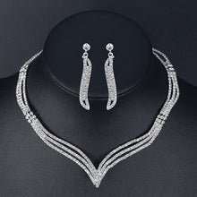 Load image into Gallery viewer, Mecresh Crystal Bridal Wedding Jewelry Sets - Find A Gift Fast