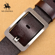 Load image into Gallery viewer, NO.ONEPAUL Authentic men's leather business fashion retro  belt alloy pin buckle new buckle men's jeans wild belt free shipping - Find A Gift Fast