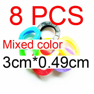 8pcs/16pcs Mixed Color Hollow Rubber Key - Find A Gift Fast