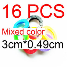 Load image into Gallery viewer, 8pcs/16pcs Mixed Color Hollow Rubber Key - Find A Gift Fast
