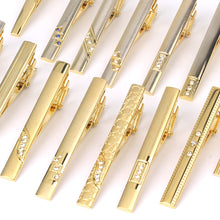 Load image into Gallery viewer, New Tie Clips Men's Metal Necktie Bar Crystal Dress Shirts Tie Pin For Wedding Ceremony Metal Gold Tie Clip Man Accessories - Find A Gift Fast