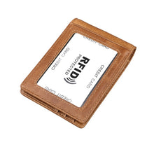 Load image into Gallery viewer, Ultra Small RFID Wallet Men Women Money Clips Genuine Leather Short Purse for Money Bifold Cards Case Slim Clip 11 Card Pocket