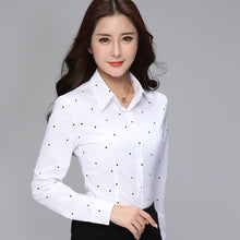 Load image into Gallery viewer, Fashion Blouses Womens Tops and Blouse White Autumn Loose Blouse Women Long Sleeve Blouse Woman Ladies Shirts Plus Size XXXL Top