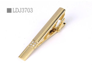 New Tie Clips Men's Metal Necktie Bar Crystal Dress Shirts Tie Pin For Wedding Ceremony Metal Gold Tie Clip Man Accessories - Find A Gift Fast
