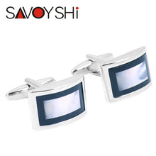 Load image into Gallery viewer, SAVOYSHI Luxury Shell Cufflinks Mens - Find A Gift Fast