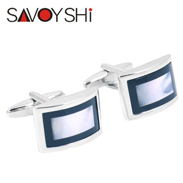 SAVOYSHI Luxury Shell Cufflinks Mens - Find A Gift Fast
