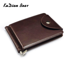 Load image into Gallery viewer, KUDIAN BEAR Rfid Men Wallet Short Money Clip Wallet Metal Leather Slim Male Card Organizer Minimalist Carteras Hombre BID249PM49