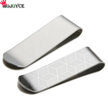 Load image into Gallery viewer, Metal Stainless Steel Money Clips Folder Stripe Print Silver Cash Clamp Holder Wallet Slim Card ID Money Clips Men Women