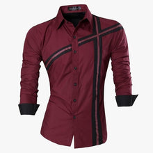 Load image into Gallery viewer, Jeansian Men's Fashion Dress Shirts Casual Long Sleeve Slim Fit Tatoo Stylish Z030