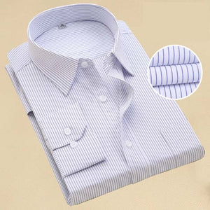 Fashion Brand Shirt Men Long Sleeve Spring Solid Color Business Office Formal Men Dress Shirt Plus Size Male Shirt Chemise 7XL